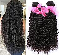 abordables -Lot de 3 Tissage de cheveux Cheveux Malaisiens Bouclé Extensions de cheveux Naturel humains Cheveux Naturel Rémy Paquets de 100% Remy Hair Weave 300 g Tissages de cheveux humains Extensions Naturelles
