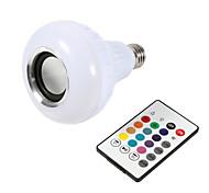 abordables -1 pcs Smart E27 12 W Ampoule LED Ampoule RGB Lumière Sans Fil Bluetooth Audio Haut-Parleur Musique Jouer Dimmable Lampe Télécommande