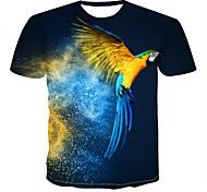 abordables -Homme T-shirt 3D Animal Imprimé Hauts Bleu Roi