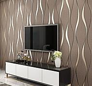 abordables -Rayé Décoration d'intérieur Moderne Revêtement, Non-tissé Matériel adhésif requis fond d'écran, Couvre Mur Chambre
