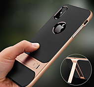 abordables -étui pour apple iphone xr xs max avec socle arrière anti-choc couleur unie tpu xs dur 8 plus 8 7 plus 7 6 plus 6 6 plus 6