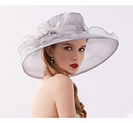 economico -Tulle / Organza fascinators / cappelli / Cuffia con Cristalli / Piume / Fiocco 1 Matrimonio / Da tutti i giorni / Tè Copricapo