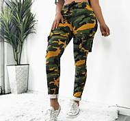 economico -Per donna Per sport Sport Da tutti i giorni Carico tattico Pantaloni Mimetico Tasche Bianco Giallo Verde militare