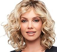 abordables -Tissage Bouclé Partie médiane Perruque Moyen Or clair Cheveux Synthétiques 16 pouce Femme Design à la mode Homme Synthétique Marron