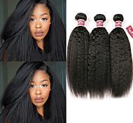 abordables -Lot de 3 Tissage de cheveux Cheveux Malaisiens Droit Yaki Extensions de cheveux Naturel humains Cheveux Naturel Rémy Paquets de 100% Remy Hair Weave 300 g Tissages de cheveux humains Extensions