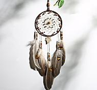economico -boho dream catcher regalo fatto a mano appeso a parete arredamento arte ornamento artigianato indiano piuma perlina 50 * 13 cm per bambini camera da letto festival di nozze