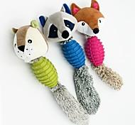 abordables -Jouets de mastication Interactif Peluches Chien 1pc Compatible avec animaux de compagnie Caoutchouc Pluche Cadeau Jouet pour animaux de compagnie Jeu d'animaux