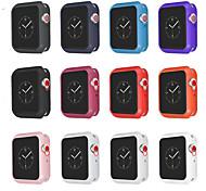 economico -Per Apple  iWatch Apple Watch Serie SE / 6/5/4/3/2/1 Silicone Proteggi Schermo Custodia per Smartwatch  Compatibilità 38 millimetri 40 mm 42 millimetri 44mm