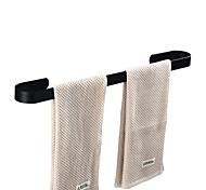 abordables -porte-serviettes pour salle de bain nouveau design porte-serviettes mural en aluminium simple tige noir 1pc
