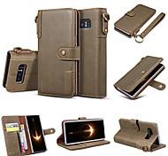 economico -telefono Custodia Per Samsung Galaxy Integrale Custodia in pelle Custodia flip S9 S9 Plus S8 Plus S8 Bordo S7 S7 Bordo S6 S6 S10 S10 + A portafoglio Porta-carte di credito Con supporto Tinta unica