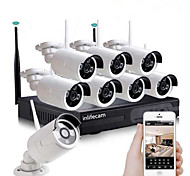 economico -8ch 720p più recente nuova fabbrica 720p 8 canali speciale design wireless telecamera di sicurezza wifi nvr kit