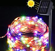 abordables -ZDM® 10m Guirlandes Lumineuses 100 LED SMD 0603 1Set Support de montage 1 set Blanc Chaud Blanc Froid Plusieurs Couleurs Décoration de mariage de Noël Alimentation Solaire / IP65