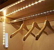 abordables -4pcs 2pcs 1pcs 0.5m LED sous la lumière de l'armoire avec capteur de mouvement sans fil PIR bande étanche LED lampe port lumière cuisine escaliers armoire lit côté lumière