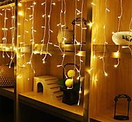 abordables -4m * 0.6m Ensemble de Luminaires Guirlandes Lumineuses 96 LED 1pc Blanc Chaud Blanc Bleu Imperméable Soirée Décorative 220-240 V 110-120 V
