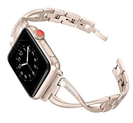 abordables -1 pièces Bracelet de Montre  pour Apple  iWatch Conception de bijoux Acier Inoxydable Sangle de Poignet pour Apple Watch Series SE / 6/5/4/3/2/1