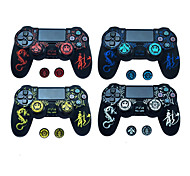 voordelige -crown gamepad thumb stick grip cap sony ps3 ps4 xbox one 360 controller case joystickhoes