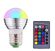 abordables -1pc 3 W Ampoules LED Intelligentes 200-250 lm E14 E26 / E27 1 Perles LED SMD 5050 Elégant Intensité Réglable Commandée à Distance RGBW 85-265 V / RoHs