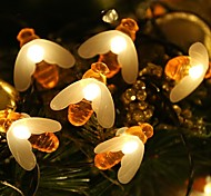 economico -5m Fili luminosi 20 LED 1 set Bianco caldo Solare Ad energia solare