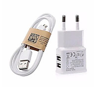 abordables -Chargeur Portable Chargeur USB Prise UE Sorties Multiples 2 Ports USB 2 A 100~240 V pour Universel