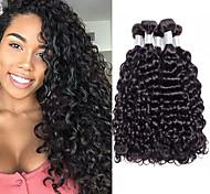 abordables -Lot de 4 Tissage de cheveux Cheveux Péruviens Ondulation Extensions de cheveux Naturel humains Cheveux Naturel Rémy Paquets de 100% Remy Hair Weave 400 g Tissages de cheveux humains Extensions
