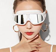 abordables -Lunettes de natation Coupe Vent Antibrouillard Natation Pour Adulte Silikon Gomme Polycarbonate Blanc Rouge Incarnadin