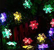 abordables -5m Guirlandes Lumineuses 20 LED 1Set Support de montage 1 set Blanc Chaud RVB Blanc Imperméable Solaire Créatif Alimentation Solaire