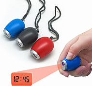 abordables -vente chaude mini horloge de projection numérique portable led lampe torche