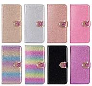 economico -telefono Custodia Per Apple Integrale Custodia in pelle Porta carte di credito iPhone 12 Pro Max 11 SE 2020 X XR XS Max 8 7 6 A portafoglio Porta-carte di credito Con diamantini Con cuori Glitterato