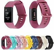economico -Cinturino intelligente per Fitbit 1 pcs Chiusura classica Silicone Sostituzione Custodia con cinturino a strappo per Fitbit Charge 3