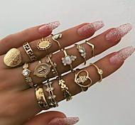 economico -Anello Oro Lega 15 pz / Per donna / Set di anelli