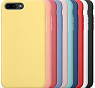 abordables -étui pour apple iphone 6 / iphone 6 plus iphone 6s iphone7 iphone7plusiphone8plus iphone x / xs / xsmas couverture arrière antichoc solide coloré pc dur / gel de silice pour