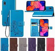 economico -telefono Custodia Per Samsung Galaxy Integrale Custodia in pelle A6 (2018) A6+ (2018) A8 2018 A8+ 2018 A7 Galaxy A9 (2018) A10 A30 A50 A20 A portafoglio Porta-carte di credito Con chiusura magnetica
