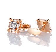 abordables -Boutons de manchettes Classique Mode Cristal Broche Bijoux Dorée Rose Pour Mariage Cadeau