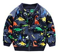 abordables -Enfants Garçon Veste & Manteau Dinosaure Imprimé Actif Vert Bleu Roi