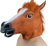 abordables -Tête de Cheval Masques d'Halloween Accessoire d'Halloween Terrifiant Drôle Tête de Cheval Costume Horreur Caoutchouc Amusant et fantaisiste Fête costumée Adulte Garçon Fille Jouet Cadeau