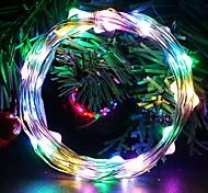 economico -5m Fili luminosi 50 LED 1 set Multicolore Decorativo Batterie AA alimentate
