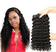 abordables -Lot de 4 Tissage de cheveux Cheveux Malaisiens Ondulation Extensions de cheveux Naturel humains Cheveux Naturel Rémy Tissages de cheveux humains Bundle cheveux Extensions Naturelles 8-28 pouce