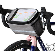 economico -ROSWHEEL 4.8 L Borsa per cellulare Sacca da manubrio bici Schermo touch Multistrato Strisce riflettenti Borsa da bici Tessuto Poliestere 300D Marsupio da bici Borsa da bici Samsung Galaxy S6