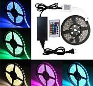 economico -5m Strisce luminose LED flessibili 300 LED SMD5050 10mm 1 telecomando da 24Keys 1 adattatore di alimentazione X 5A 1 set Colori primari Feste Auto-adesivo Strisce LED Tiktok 12 V