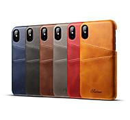 economico -telefono Custodia Per Apple Per retro Custodia in pelle iPhone 12 Pro Max 11 SE 2020 X XR XS Max 8 7 6 Porta-carte di credito Tinta unica Resistente vera pelle