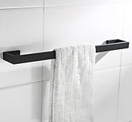 economico -portasciugamani nuovo design metallo bagno singola asta porta asciugamani da parete in acciaio inox nero opaco 1pz