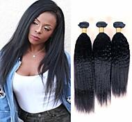 abordables -Lot de 3 Tissage de cheveux Cheveux Brésiliens Droit crépu Extensions de cheveux Naturel humains Cheveux Naturel Rémy Paquets de 100% Remy Hair Weave 300 g Tissages de cheveux humains Extensions