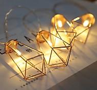 economico -2m Fili luminosi 10 LED 1 set Bianco caldo Decorativo Batterie AA alimentate