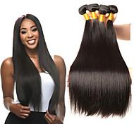 abordables -Lot de 4 Tissage de cheveux Cheveux Indiens Droit Extensions de cheveux Naturel humains Cheveux Naturel Rémy Paquets de 100% Remy Hair Weave Tissages de cheveux humains Extensions Naturelles 8-28