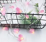 economico -1.5m Fili luminosi 10 LED 1 set Rosa Decorazione di nozze di Natale Batterie AA alimentate