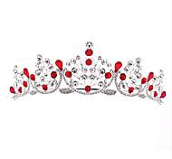 economico -diademi della lega della corona della principessa della regina di lusso con scintillio scintillante 1pc copricapo nuziale di sera della festa nuziale