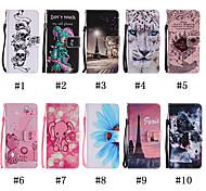 economico -telefono Custodia Per LG Integrale Custodia in pelle Porta carte di credito LG Q Stylus LG X Power LG Stylo 4 LG StyLo 2 LG K10 LG K7 A portafoglio Porta-carte di credito Con supporto Teschi Animali