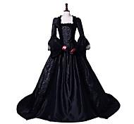 economico -Da principessa Maria Antonietta Stile Floreale Rococò Vittoriano Rinascimentale vestito da vacanza Vestiti Vestito da Serata Elegante Stile Carnevale di Venezia Abito da ballo Per donna Costume Nero