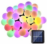 economico -luce solare esterna della stringa ha condotto la luce solare del giardino 5m luci della stringa luci esterne della stringa 20 led 1set staffa di montaggio 1 set bianco caldo rgb bianco solare