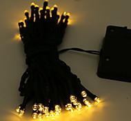 economico -10m Fili luminosi 100 LED 1 set Bianco caldo Solare Decorativo Ad energia solare